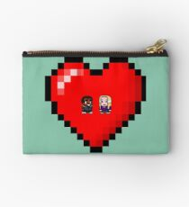 """Love in 8-bit"": Britta and Troy (Style A) Studio Pouch"