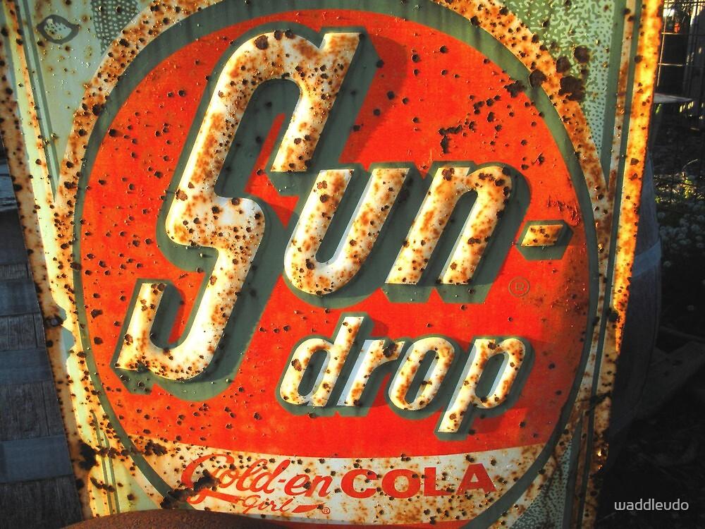 """ Sun Drop Cola Sign "" by waddleudo"