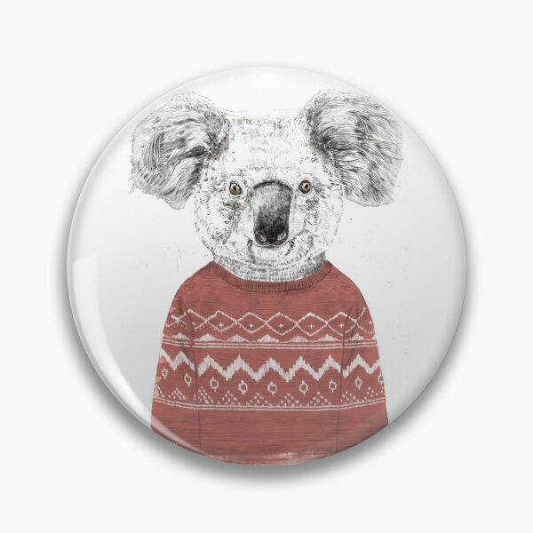 Winter koala (red) Pin