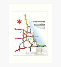 Chicago Highway Names Art Print
