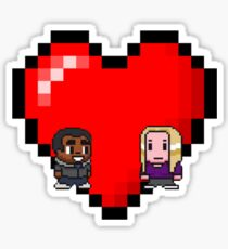 """Love in 8-bit"": Britta and Troy (Style B) Sticker"