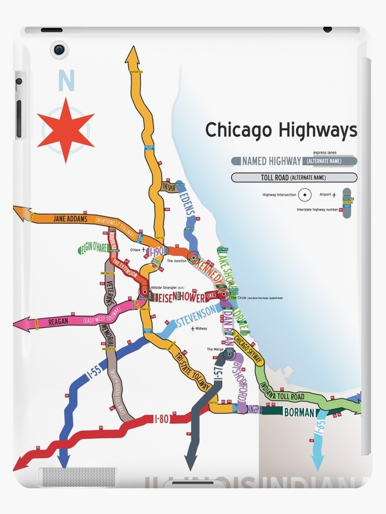 Chicago Highway Map Chicago Highway Names