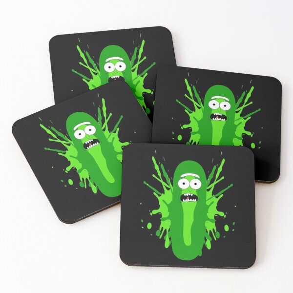 Pickle Rick  Coasters (Set of 4)