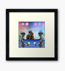 Robot Warrior Bar Scene.. Framed Print