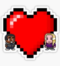 """Love in 8-bit"": Britta and Troy (Style C) Sticker"