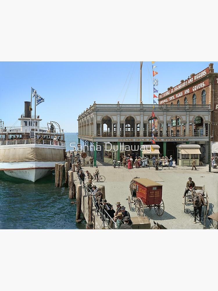 Belle Isle ferry dock, Detroit, in 1905 by SannaDullaway