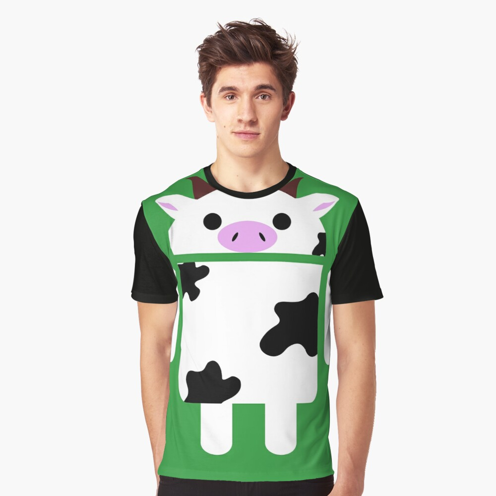 Droidarmy: Who let the cows out? Graphic T-Shirt Front