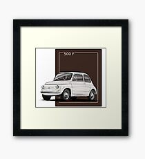 Fiat 500 F Framed Print