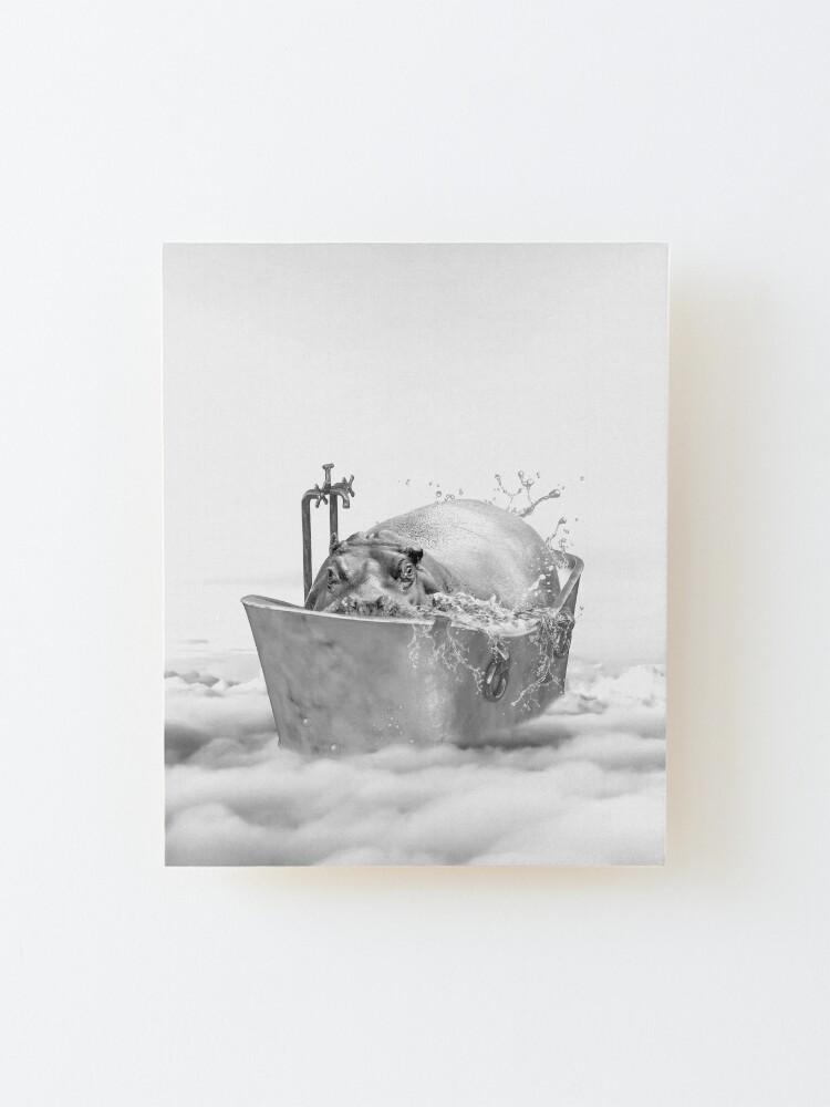 Alternate view of HIPPO BATH Mounted Print