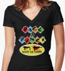 Pack A Punch Women's Fitted V-Neck T-Shirt