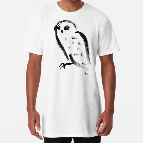 Snow owl - Fusion of pen strokes Long T-Shirt