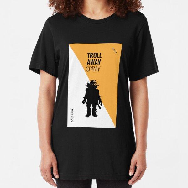Ernest Scared Stupid - Troll Away Spray Slim Fit T-Shirt