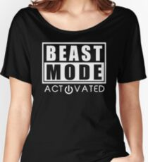 Beast Mode Gym Bodybuilding Sport Motivation Women's Relaxed Fit T-Shirt