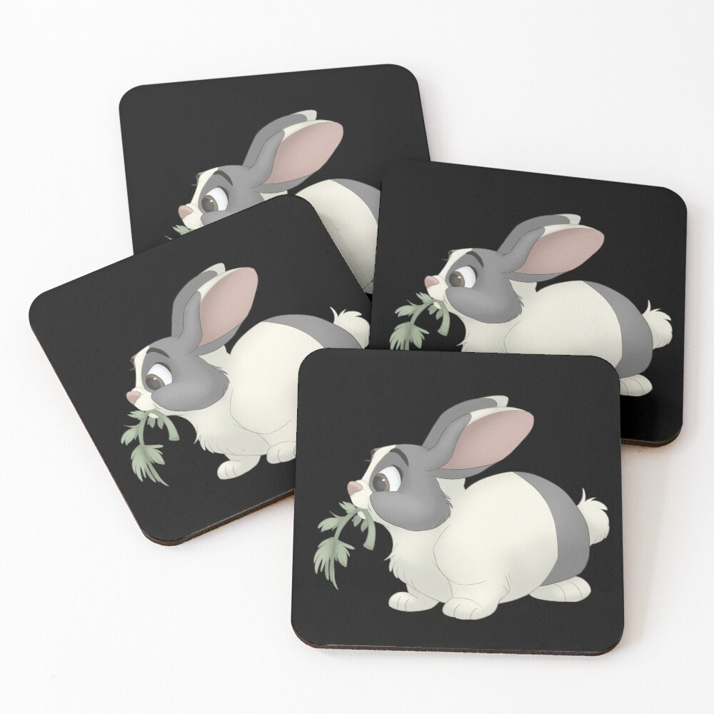 Dutch bunny eating Coasters (Set of 4)