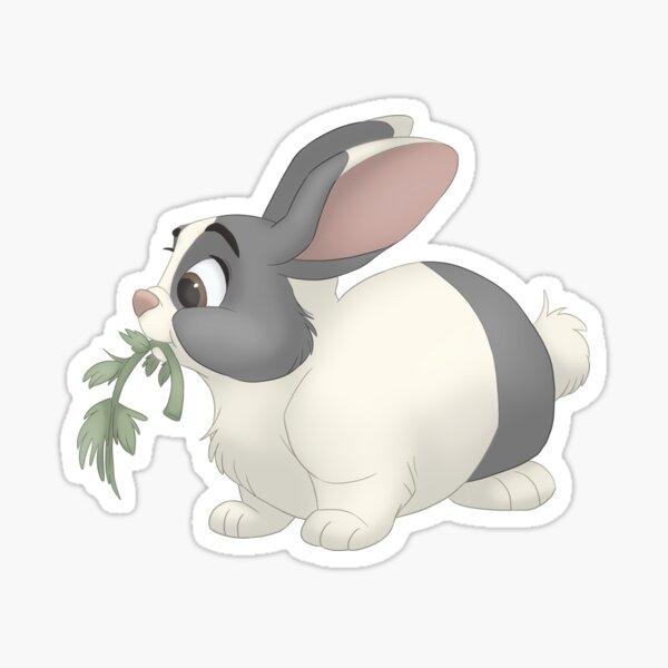 Dutch bunny eating Sticker