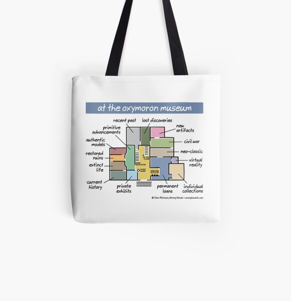at the oxymoron museum All Over Print Tote Bag