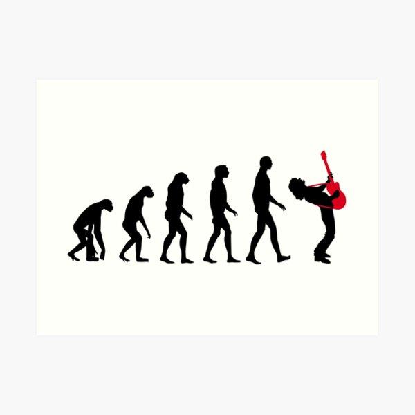 Rock Evolution Art Print