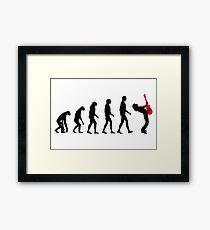 Rock Evolution Framed Print