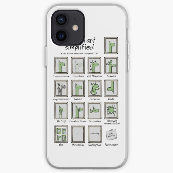 modern art simplified iPhone Soft Case