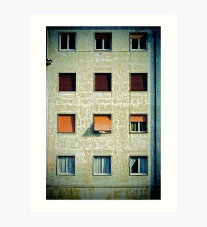Twelve windows Art Print