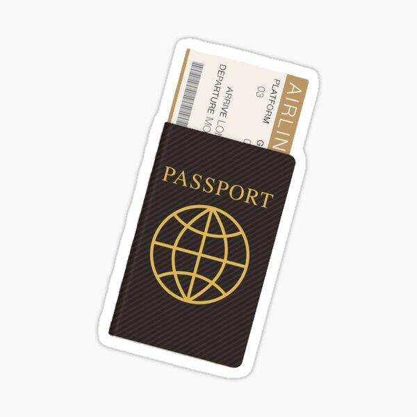 Reisepass Sticker