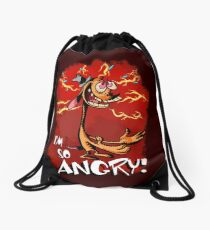 Ren is so Angry Drawstring Bag