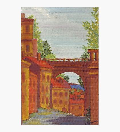 Old Odessa City oil painting Photographic Print