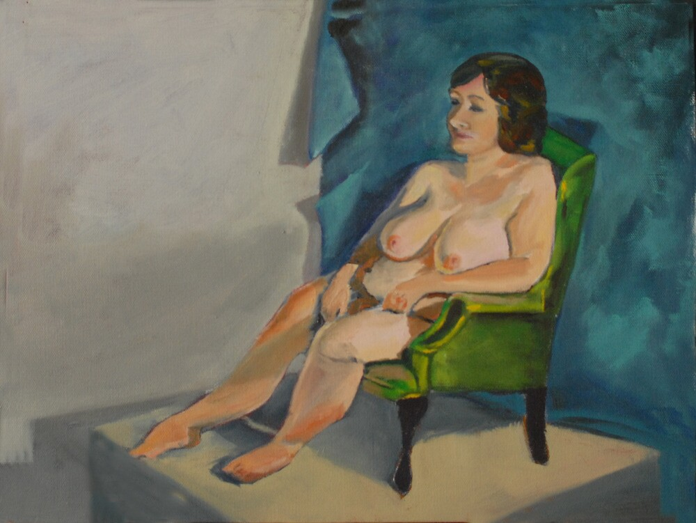 Seated Female Nude by Phyllis Dixon