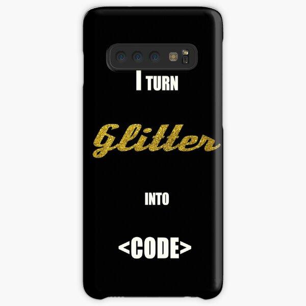 I turn Glitter into code Samsung Galaxy Snap Case