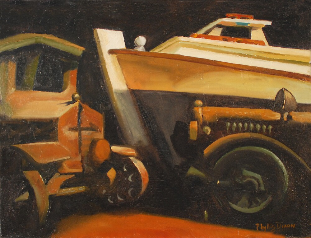 Tilghman Island Crab Boat and Toy Truck by Phyllis Dixon