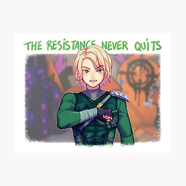 The Resistance Never Quits Photographic Print