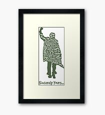 The Breakfast Club - Sincerely Yours Framed Print
