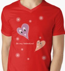 Be my Valentine!  Mens V-Neck T-Shirt