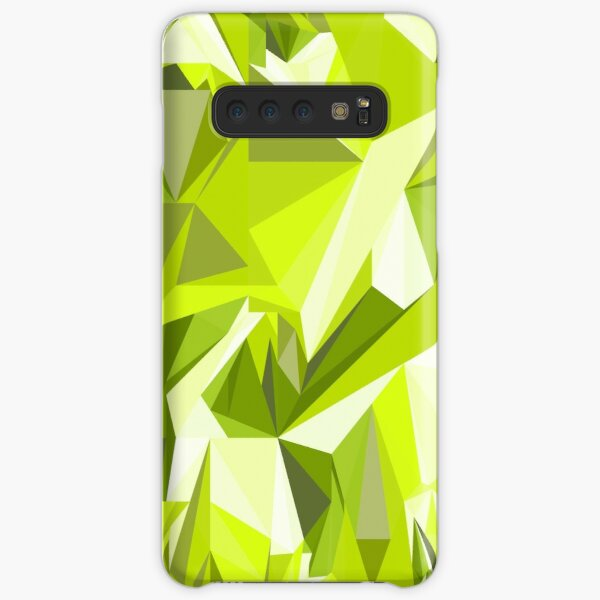 Net of green triangles Samsung Galaxy Snap Case