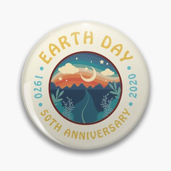 Earth Day 2020 50th Anniversary Retro Graphic Pin