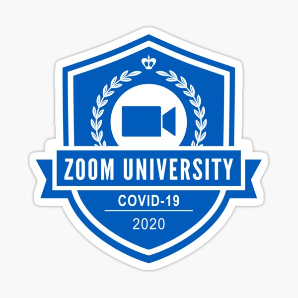 Zoom University Blue Sticker