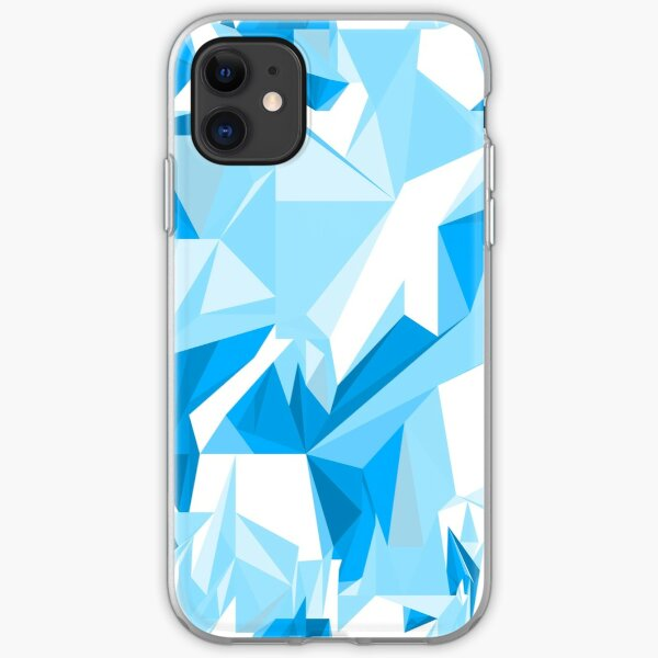 Net of turquoise triangles iPhone Soft Case