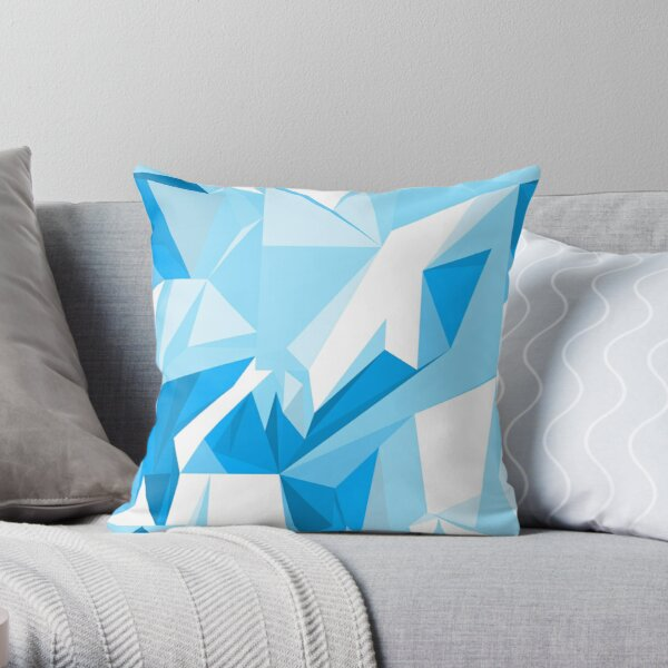 Net of turquoise triangles Throw Pillow