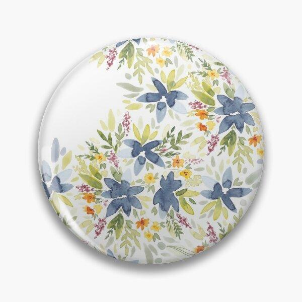 Floral Watercolors  Button