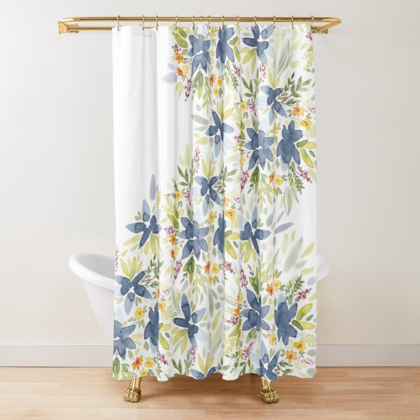 Floral Watercolors  Duschvorhang