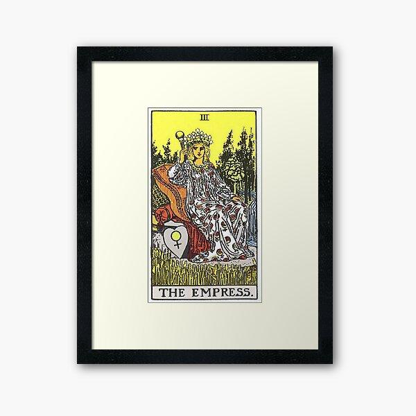 The Empress Tarot Framed Art Print