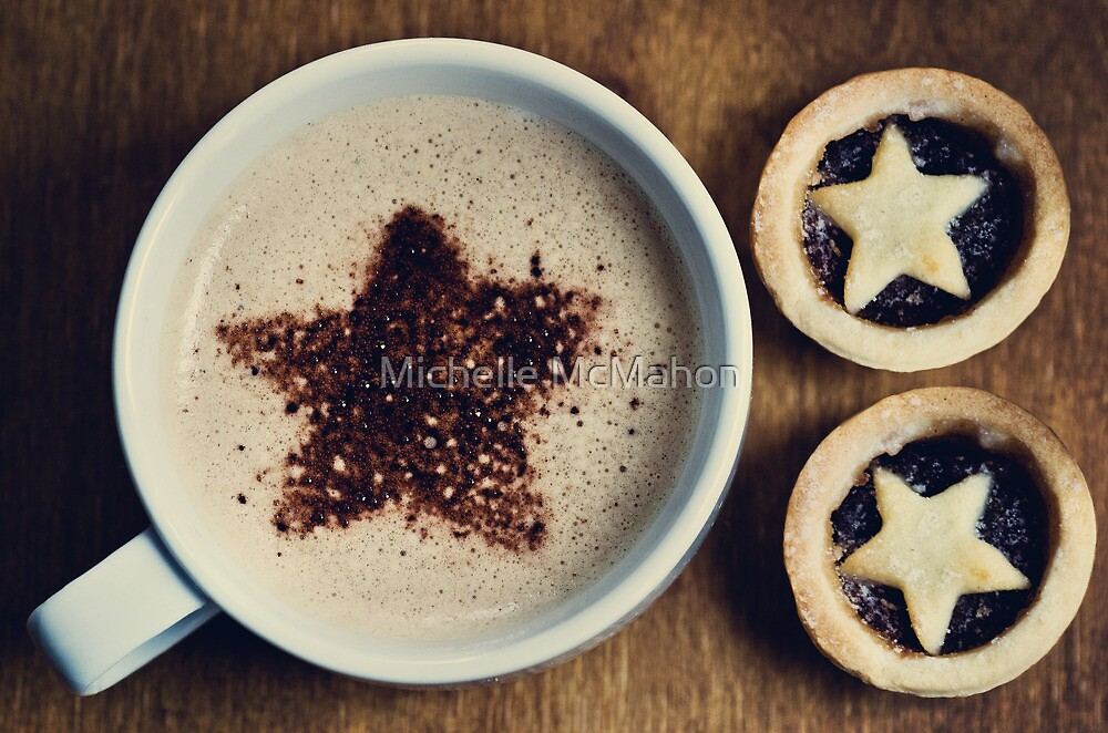 latte and mince pies.. by Michelle McMahon