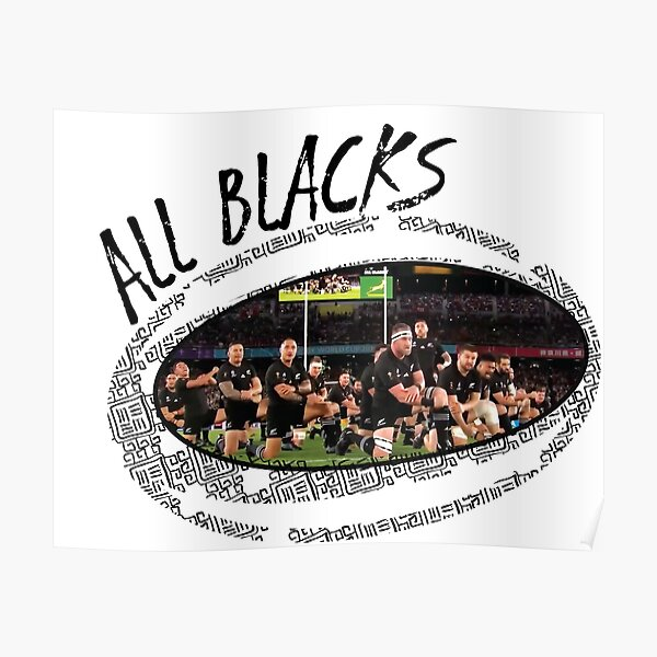 Rugby World Cup All Blacks Poster