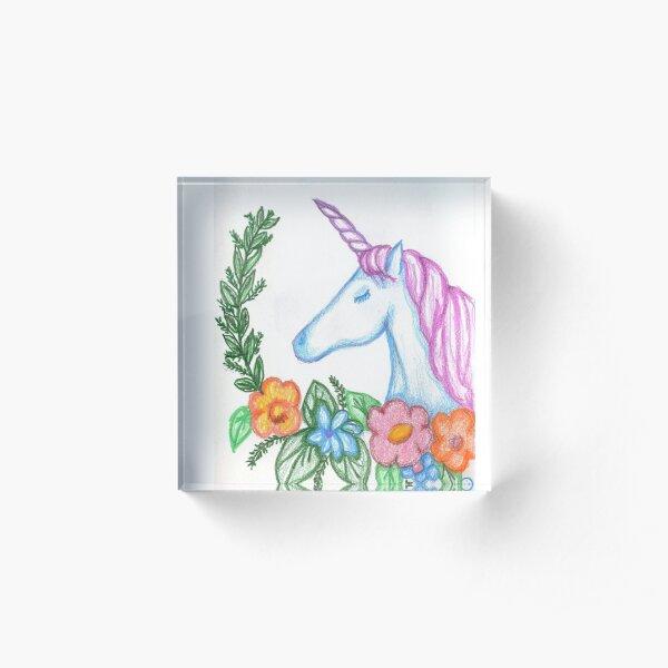 I still Believe in Magic - and Unicorns! Acrylic Block