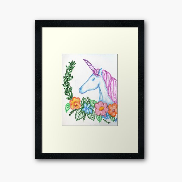 I still Believe in Magic - and Unicorns! Framed Art Print