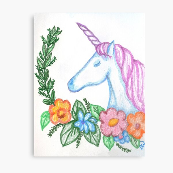 I still Believe in Magic - and Unicorns! Metal Print