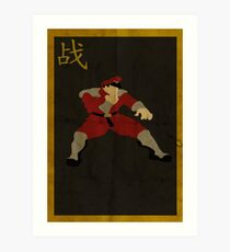 FIGHT: M. Bison Art Print