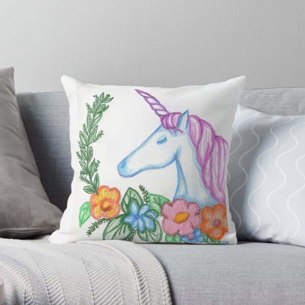 I still Believe in Magic - and Unicorns! Throw Pillow