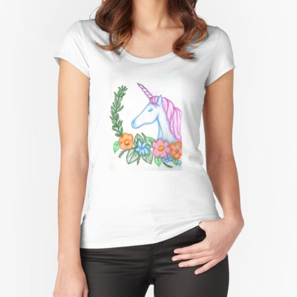 I still Believe in Magic - and Unicorns! Fitted Scoop T-Shirt