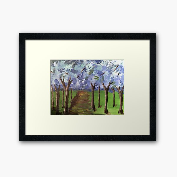 Within The Woods - Blue Forest Framed Art Print